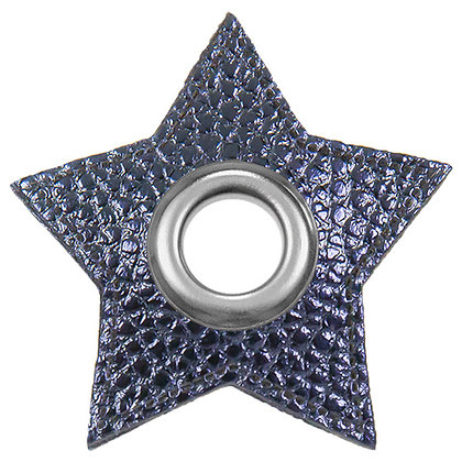 Ösenpatch Stern - Marine Metallic