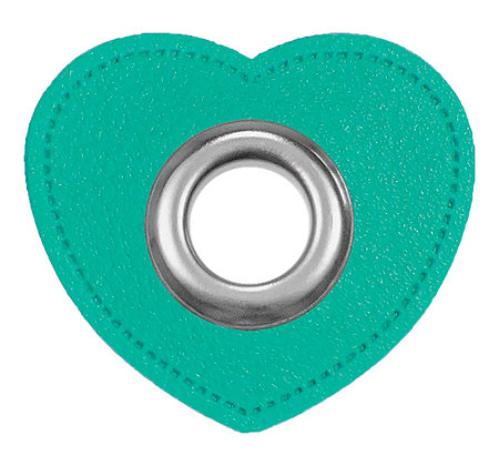 Ösenpatch Herz - Mint