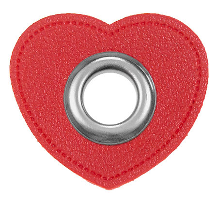 Ösenpatch Herz - Rot