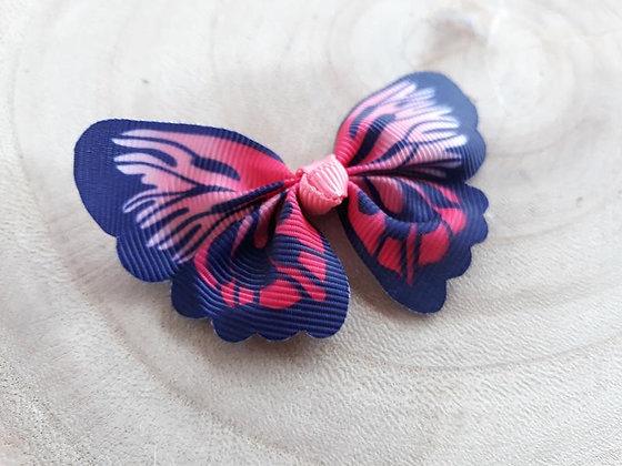 Schmetterlingsapplikation (Blau/Pink)