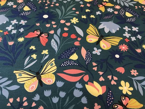 """French-Terry """"Schmetterlingsgarten"""""""