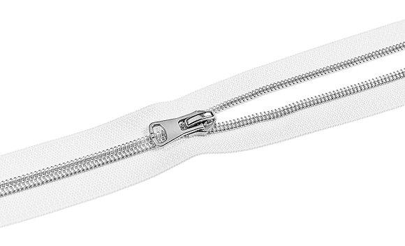 Endlosreißverluss - Weiß / Silber