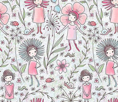 """Lillestoff Jersey by Susalabim """"Blumenmädchen"""""""