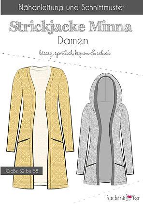 Papierschnittmuster Fadenkäfer - Strickjacke Minna - Damen