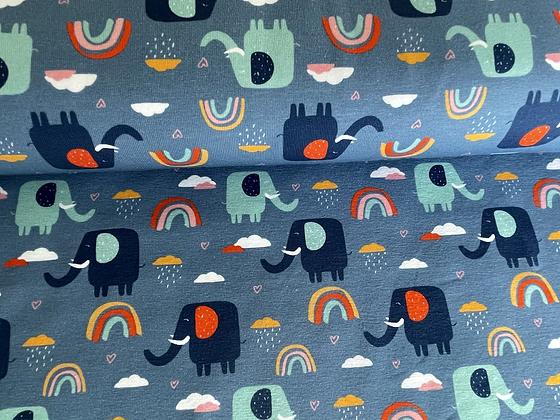"""Jersey """"Regenbogen Elefanten"""" - Fräulein von Julie"""
