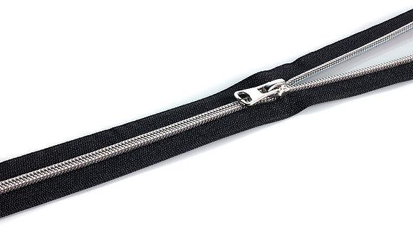 Endlosreißverluss - Schwarz / Silber