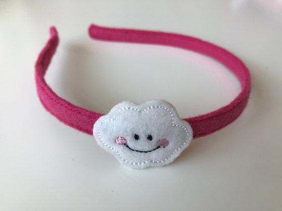 Haarreifen - Pink/Wolke