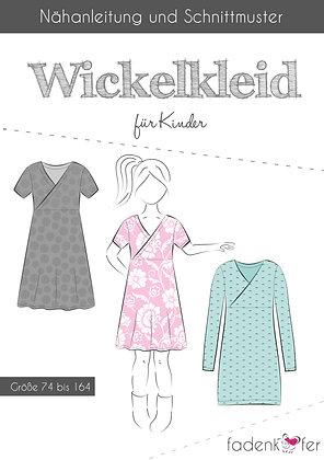 Papierschnittmuster Fadenkäfer - Wickelkleid - Kids