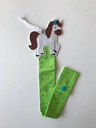 Haarspangenhalter Grün/Pferd
