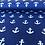 """Thumbnail: Baumwolle """"Anker - Blau """""""
