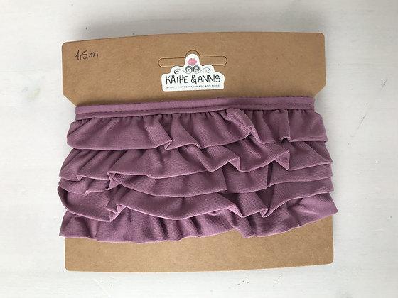 Jerseyvolant, lila, 3,0 cm