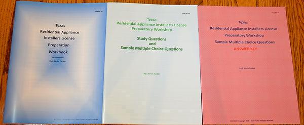 Texas Residential Appliance Installer License Exam Preparation Workbooks
