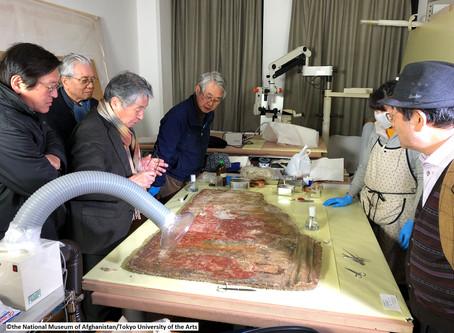 【メス・アイナク出土品保存修復プロジェクト:壁画の修復をスタート】