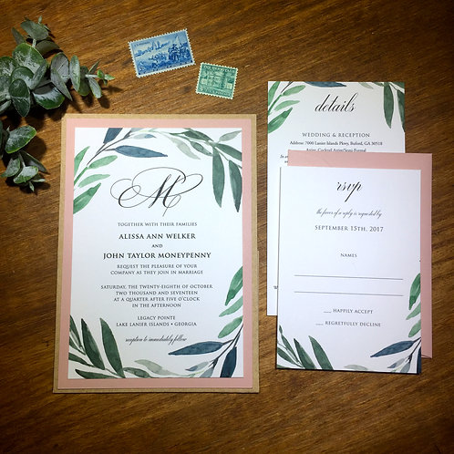 Eucalyptus Invitation Suite
