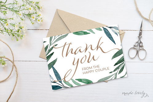 Eucalyptus Thank You Notecard Set
