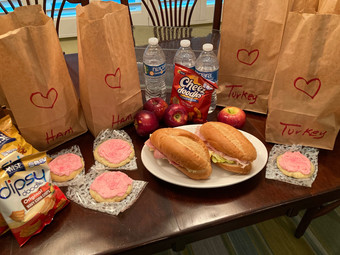 Valentine Lunches for the Homeless