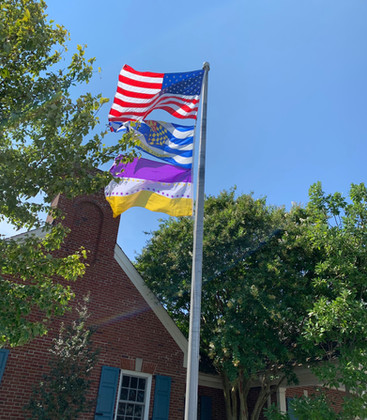 Suffragette Flag Flies Over Lewes Town Hall
