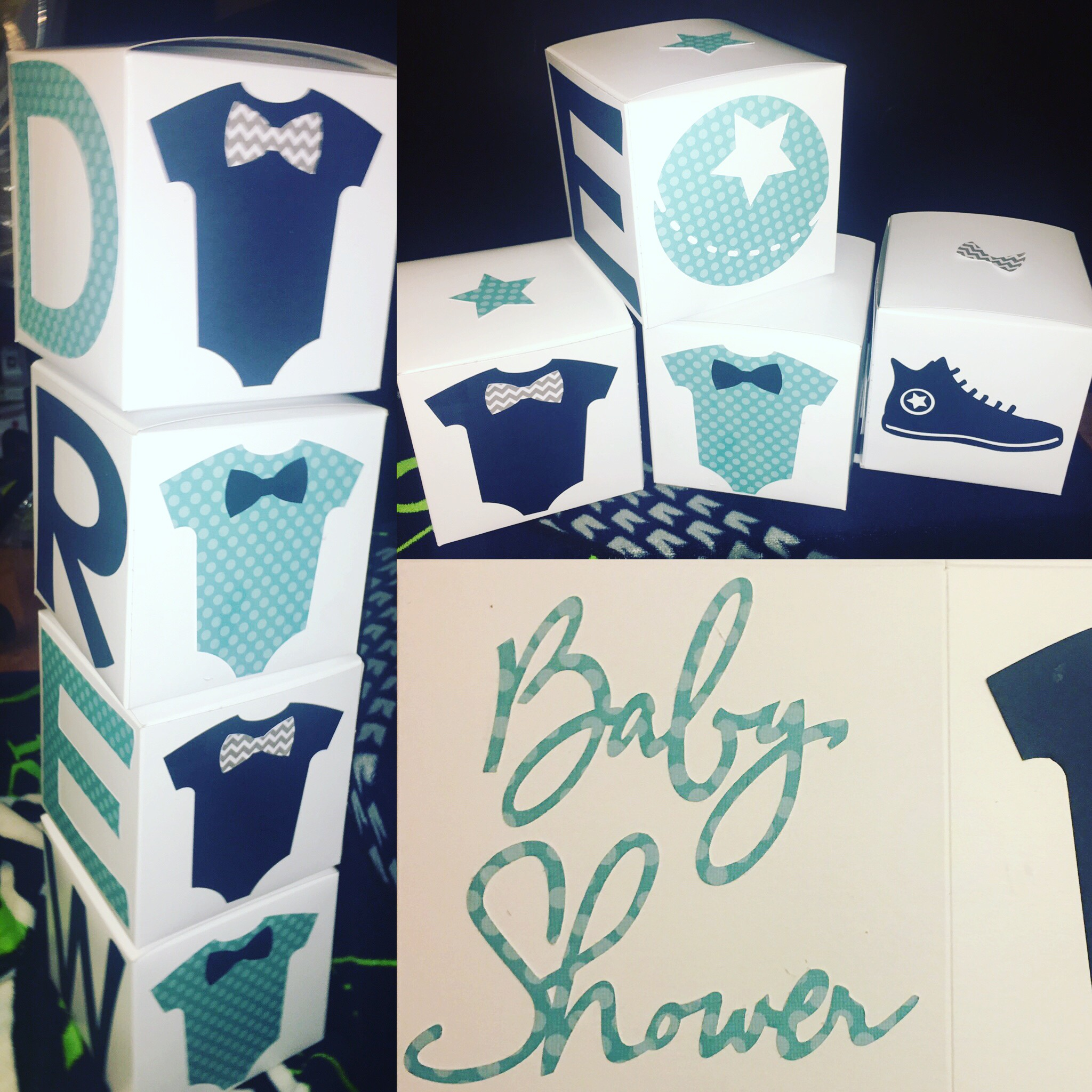 baby shower/baby block decorations