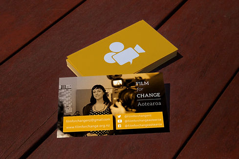Film For Change Aotearoa business card