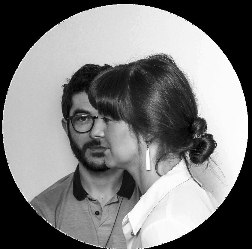 Danaé & Gwen portrait black and white for le Vide Poche