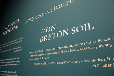 Détail exposition Bouchor La Cohue, Musée des Beaux Arts de Vannes