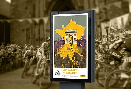 Affiche 3 panneau Tour de France