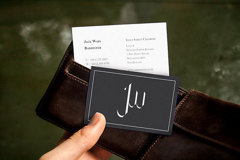 Barrister business card