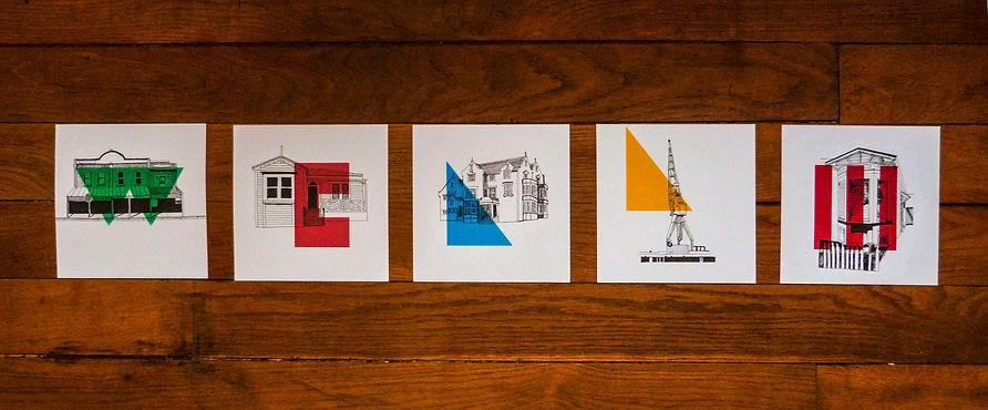 Pêle-mêle des illustrations pour l'exposition Wellington à la Roar! Gallery
