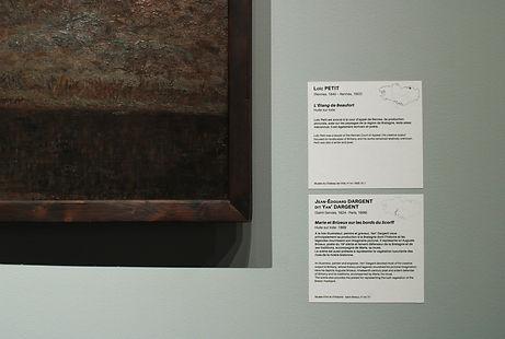 Détail cartel de l'exposition Terres et Landes La Cohue Musée des Beaux Arts de Vannes