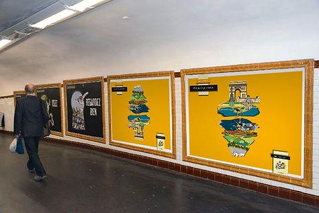 Affiche 2 métro Tour de France