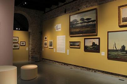 Vue de l'exposition Terres et Landes La Cohue Musée des Beaux Arts de Vannes