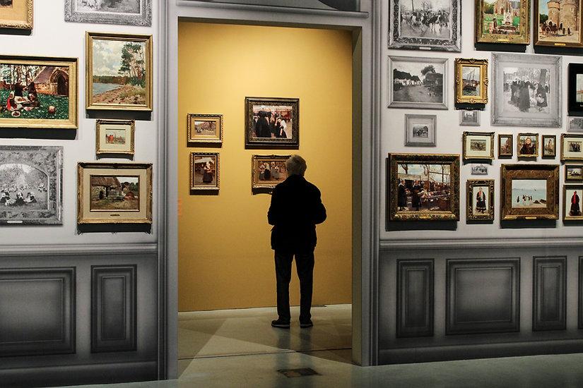 Vue exposition Bouchor La Cohue, Musée des Beaux Arts de Vannes
