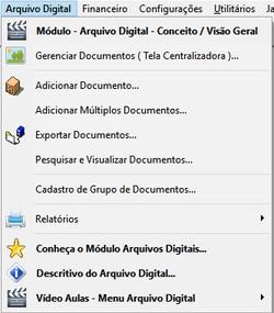 Modulo Arquivo digital clinicas e consultorios
