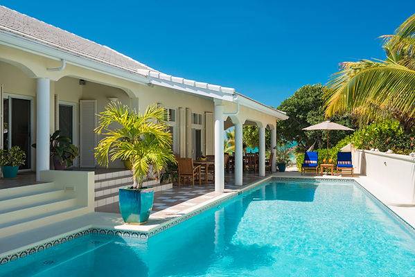 Private pool, best beach, Sapodilla Bay, Providenciales, Conde Nast, Forbes, beachfront, Caribbean, oceanfront, ocean views, sand, relax, family, couples, Grace Bay,