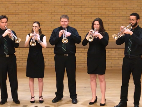 UND Trumpet Ensemble performs at the National Trumpet Competition in Denton, TX