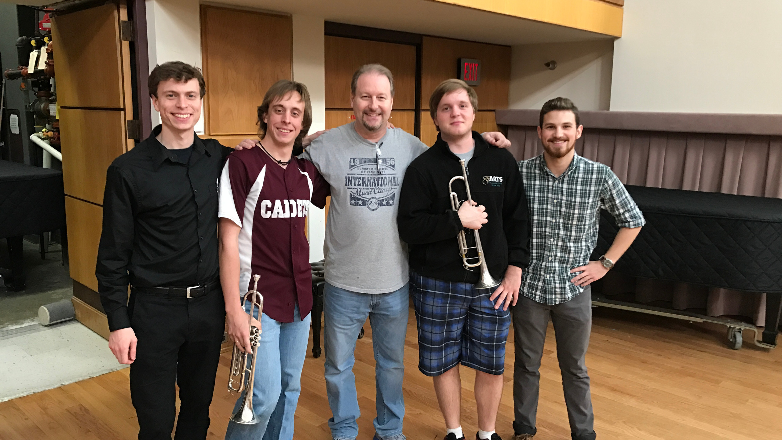 with some ODU trumpet students