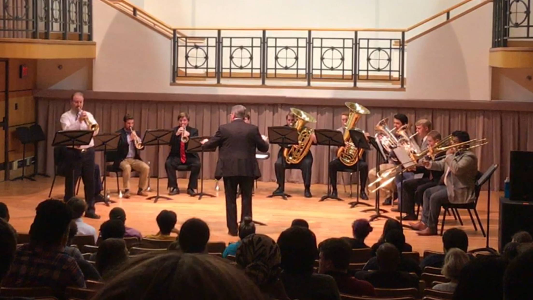 Performing with the ODU Brass Choir