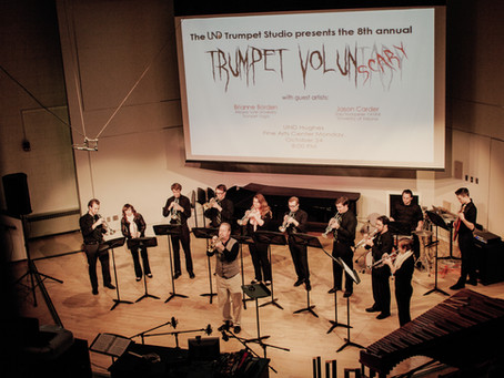 The UND Trumpet Studio's 8th Annual Trumpet Volunscary a huge success