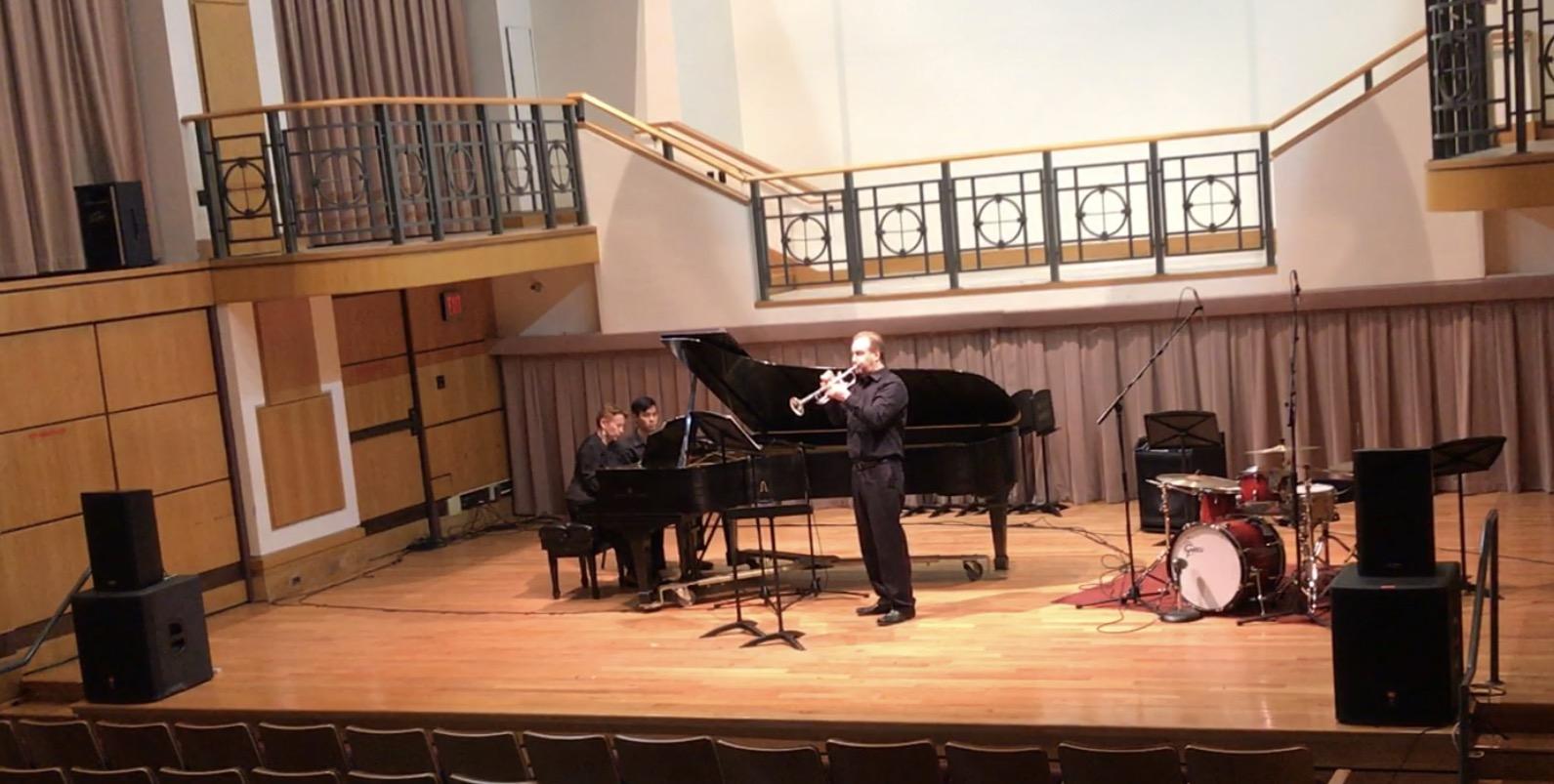 Performing solo recital at ODU