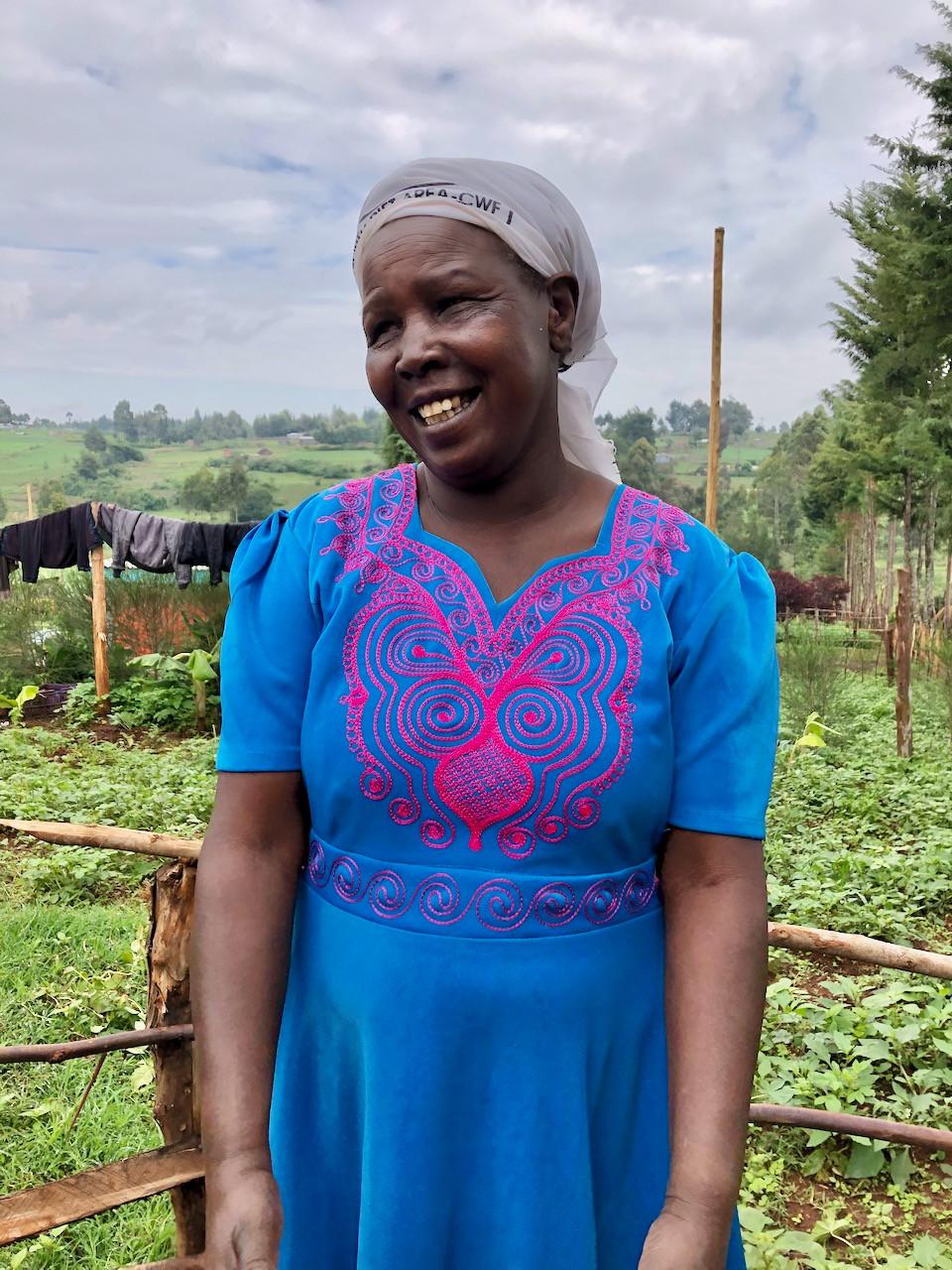 Kenyan woman in her farm