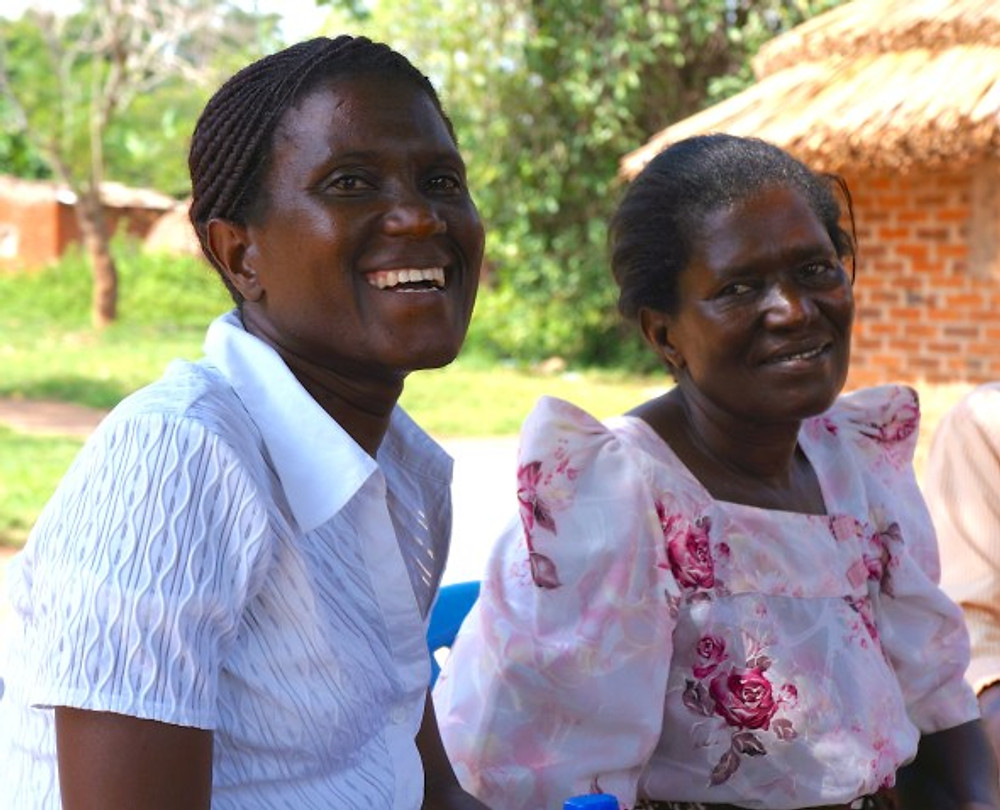 Ruth and her mother Catherine in Uganda. Ruth speaks English and Lugandan and acted as interpreter during our conference there. Catherine raises pigs and runs the family compound.