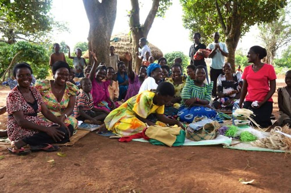 Many women as part of the Kasozi Savings group