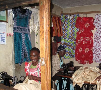 one of the trained beneficiary in her business