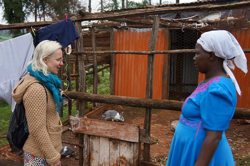 visiting a kenyan farm