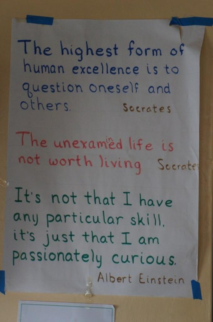 Encouraging words in the Samro School computer lab.