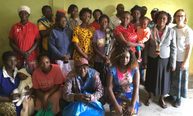 Peres's sewing business helps her family