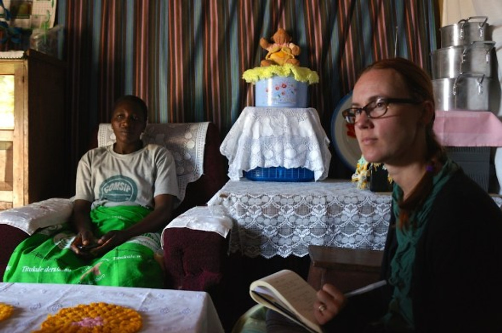My visit with Steria, inside her comfortable home, she told me her story of transformation.
