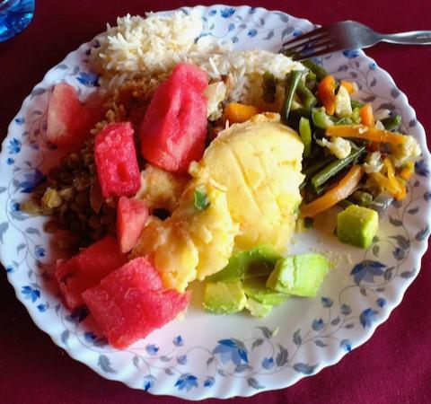 plate of food in Kenya