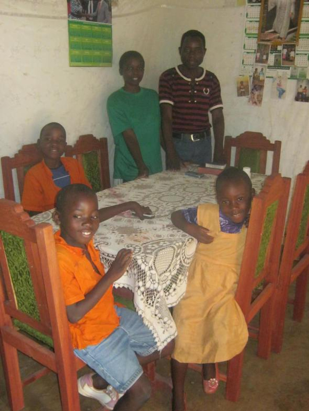 A new table for the the Phiri family! Other families are able to buy beds and other simple, yet profound, dignities.