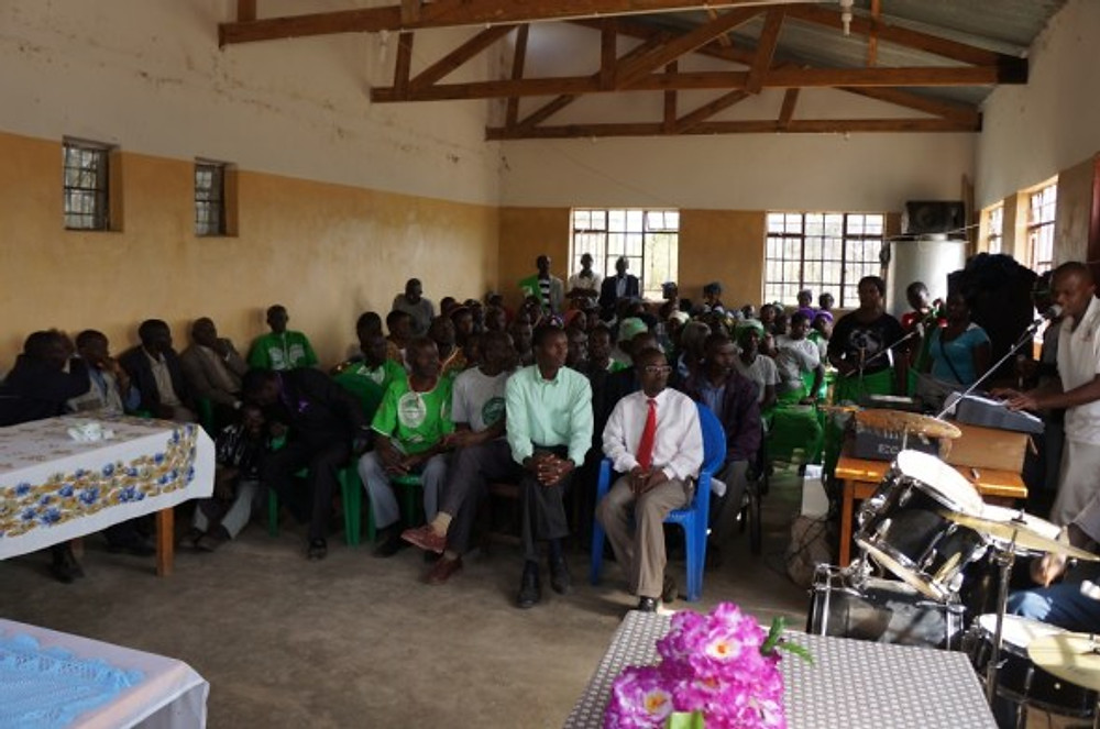 COMSIP and Small Business Fund members in their meeting hall.